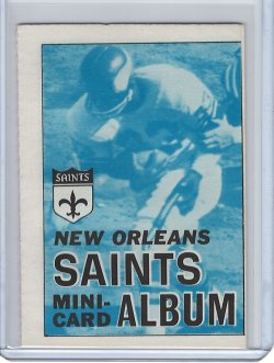1969 Topps Mini Albums #10 of 26 New Orleans Saints