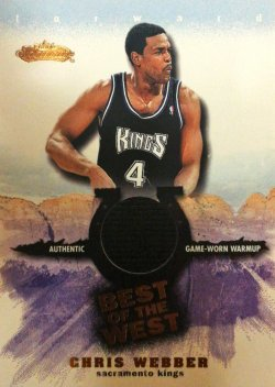 2001-02 Fleer Showcase Best of the West Chris Webber