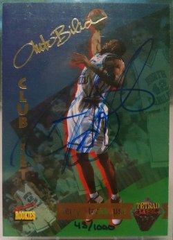 1995  Signature Rookies Tetrad Autobilia Jerry Stackhouse autograph