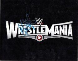 2015   Wrestlemania 31 8x10 Signed IP by Goldust