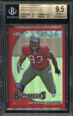 2010 Playoff Topps Chrome Red Refractor Gerald McCoy