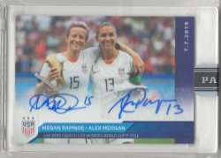2019 Panini Instant Alex Morgan & Megan Rapinoe 2019 Womens World Cup Champions Autographs