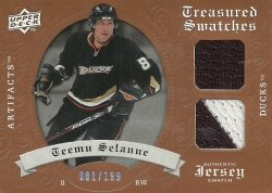 2008/09  Artifacts Treasured Swatches Dual Selanne
