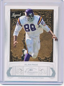 Alan Page 2009 Donruss Classics Timeless Tributes Silver /100