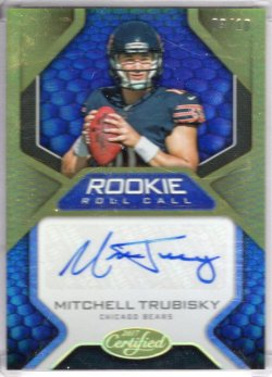 2017 Panini Certified Mitchell Trubisky Rookie Roll Call Gold