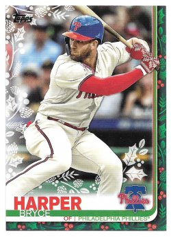 2019 Topps Topps Walmart Holiday Rare Photo Variations Bryce Harper (Wearing Mittens)