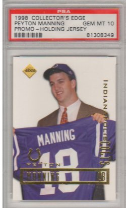1998  Collectors Edge Promo - Holding Jersey Peyton Manning