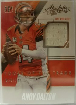 2014 Panini Absolute Tools Of The Trade  Andy Dalton