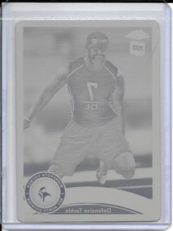 2011 Topps Chrome Yellow Printing Plate - Christian Ballard