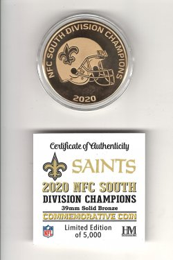 2020  The Highland Mint 2020 NFC South Division Champions Commemorative coin
