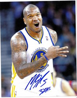 Marreese Speights Signed IP 8x10 Photo w/ 32 Pts Career High Inscription