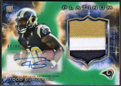 2014   Todd Gurley Topps Platinum GREEN Refractor 3-CLR RPA /99