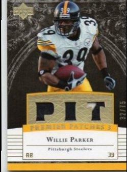 2007 Upper Deck Premier Willie Parker Triple Remnants Gold