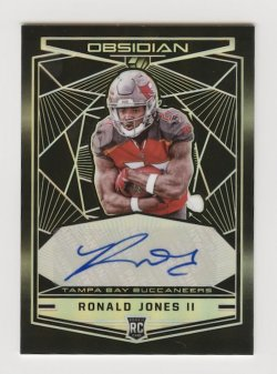 2018 Panini Obsidian Rookie Autographs #18 Ronald Jones II/100