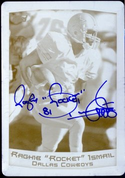 2013 Topps Archives Raghib Rocket Ismail Printing Plate