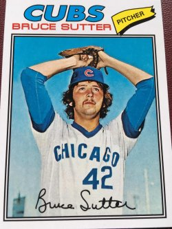2011 Topps  BRUCE SUTTER #144 Chicago Cub AllStar RHP 1977 Rookie RePrint