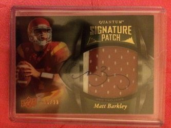 2013 Upper Deck Quantum Matt Barkley Signature Patch
