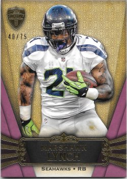 2012 Topps Supreme Purple Marshawn Lynch