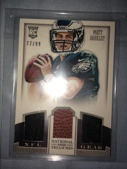 2013 Panini National Treasures Matt Barkley NFL Gear