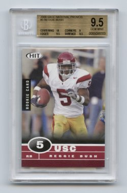 2006 SAGE HIT National Promos #5 Reggie Bush BGS 9.5