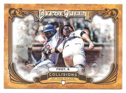 2013 Topps Topps Gypsy Queen Collisions at the Plate Buster Posey