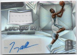 2016-17 Panini Spectra Allen, Tony - Locked In Memorabilia Autographs