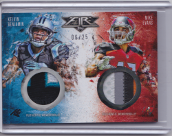 2014 Topps Topps Fire Combo Patches Mike Evans Kelvin Benjamin