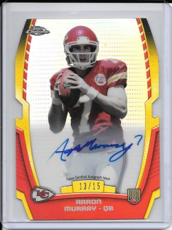2014 Topps Chrome Rookie Die Cut Autograph - Aaron Murray