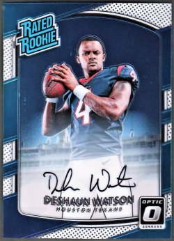 2017   Deshaun Watson Optic Rated Rookie Auto /150