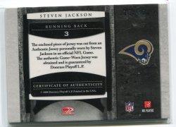 2008 Leaf Limited Steven Jackson Numbers Jersey Back
