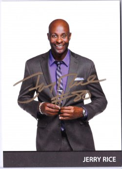 2015   Jerry Rice Signed IP 5x7 Photo Card
