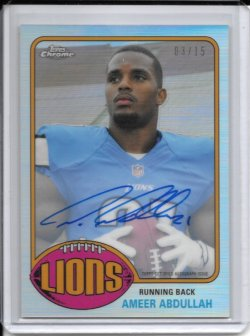 2015 Topps Chrome 1976 Refractor Autograph - Ameer Abdullah