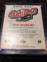 1991 Upper Deck Baseball Final Edition complete set