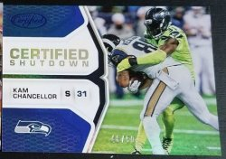 2017 Panini Certified Shutdown Blue Kam Chancellor