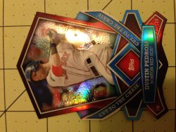 2013 Topps Series 1 Cut to the Chase Dustin Pedroia Die Cut