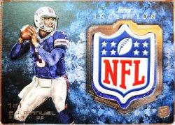 2013 Topps Inception E.J. Manuel rookie NFL shield logo patch 1/1