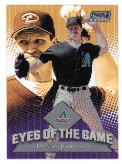 2000 Topps Stadium Club Chrome Eyes of the Game Randy Johnson