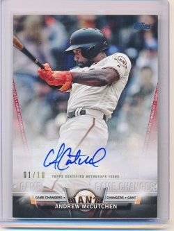 Andrew McCutchen 2018 Topps Salute Autographs Red /10