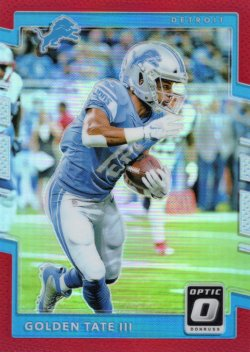 2017 Donruss Optic-Red Golden Tate