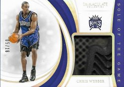 2018-19  Immaculate Collection Sole of the Game Chris Webber #ed 5/16