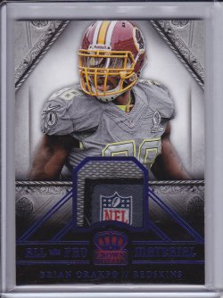 Brian Orakpo 2014 Crown Royale All Pro Materials Laundry Tag NFL Shield 1/1