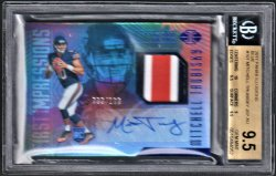2017   Mitch Trubisky Illusions Blue Parallel 3-CLR RPA /100 BGS 9.5/10