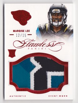 2014 Panini Flawless Rookie Patches Ruby #11 Marqise Lee/15