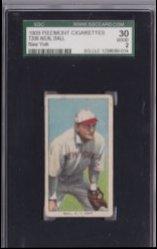 1909  T206 Neal Ball - New York - Piedmont 150