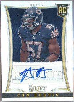 2013 Panini Select Rookie Autographs Prizm #267 Jon Bostic/199