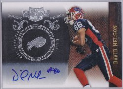 2010  Panini Plates and Patches - Signatures Silver David Nelson