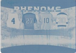 2019 Leaf In The Game Used Sports Four Sport Phenoms Quad Relics Printing Plate Cyan Webber / George / Nomo / Brodeur #ed 1/1