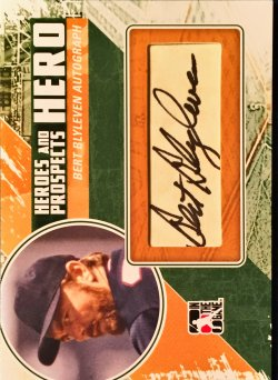 2010 In The Game Heroes and Prospects Baseball Hits Series 2 Heroes Autographs Bert Blyleven HA-BB