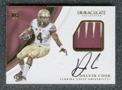 2017 Immaculate Collection Collegiate #111 Dalvin Cook JSY AU/99 RC