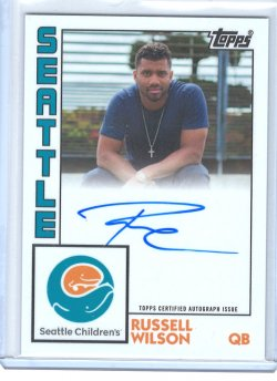 2020 Topps Seattle Childrens Hospital Set Russell Wilson Autograph